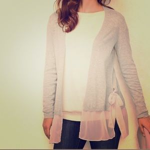 L.C. Lauren Conrad Mixed Media Cardigan